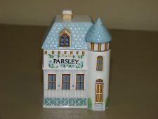1989 The Lenox Spice Village Victorian House Jar Fine Porcelain ~PARSLEY