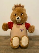 Vintage Teddy Ruxpin Doll & 3 Sets of Clothing Cassette and Blanket