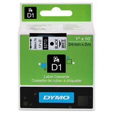 """DYMO D1 High-Performance Polyester Removable Label Tape 1"""" x 23 ft Black on"""