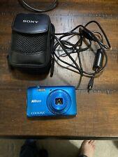Nikon COOLPIX S3600 20.1MP Digital Camera - Blue