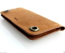 genuine real leather case for iphone SE 5c 5s book wallet cover brown handmade 5