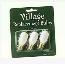Enesco Department Dept 56 #99244 Christmas VILLAGE Replacement light Bulbs S/3