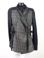 BEATE HEYMANN Damen Jacke Gr 40 DE / Grau Schwarz Muster Wie Neu  ( R 2464 )