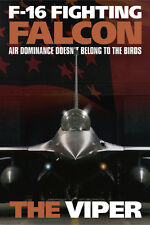 F-16 Falcon Military Soldier Protect and Serve Print Poster 24x36