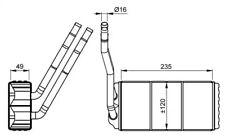 Heat Exchanger, interior heating NRF 54264