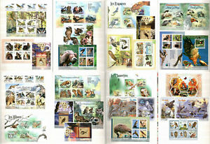 BIRDS OF PREY- Collection of stamps MNH in Album #CL23