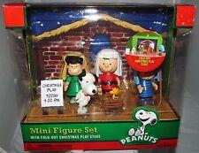 Peanuts Nativity Charlie Brown Figurine Figure Play Set Lot Christmas Decor