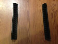 Black Plastic DVD or Video Game Holder for shelf or roll outs 2pc per Bid New