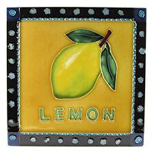 "Home and Garden Fruit Kitchen Art Tile ""Lemon"" 8x8 Accent Decor Wall Countertop"
