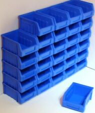 30 SIZE 1 BLUE PARTS STORAGE STACKING BIN BINS BOX