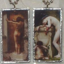LOVE LOCKED OUT / PAIN OF LOVE  ART GLASS PENDANT