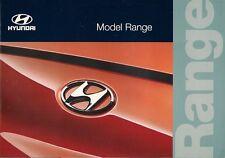 Hyundai 1996-97 UK Market Sales Brochure Accent Lantra Coupe Sonata