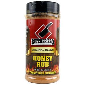 Butcher BBQ Honey Rub Original Blend 16 oz BBQ Dry Rub Seasoning Gluten Free