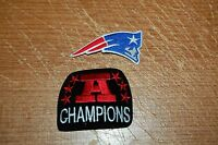 """New England Patriots 2 3/4"""" Logo Patch & AFC Champions Patch Football"""