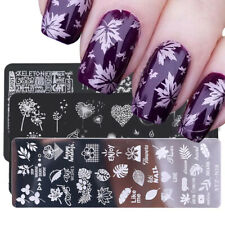 Nail Stamping Plates Flower Leaf Image Stencils Polish Template Nail Art Stamp