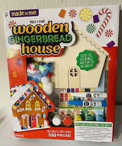 Made by Me 100 piece Build & Paint Wooden Gingerbread House