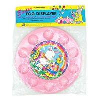 Ullmanware Easter Egg Displayer Pink Plastic Tray Bunny Holds 10 Eggs Vtg Easter