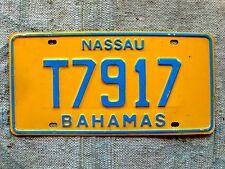 Free Shipping: NASSAU BAHAMAS License Plate Tag - 1981-1982