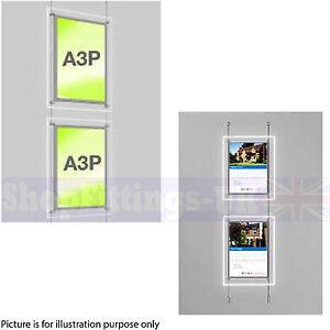 New 2 x A3 LED Double Side Window Light Pocket Light Panel Estate Agent Display