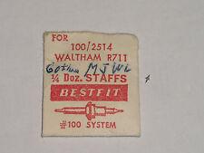 Waltham balance staff R711 R731 axe de balancier  Unruhwelle Bestfit 2514