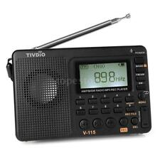 TIVDIO V115 Mini FM/AM/SW Radio Bass Sound MP3 Player REC Recorder +Sleep Timer