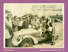 PHOTO COURSE AUTOMOBILE 1949 ,MONTLHÉRY, VICTOIRE DE GUILLAUMET, PEUGEOT -J69