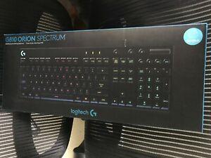 New Sealed Logitech G810 Orion Spectrum RGB Mechanical Gaming Keyboard Romer-G