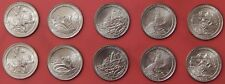 Brilliant Uncirculated 2012 5P & 5D US National Parks 25 Cents From Mint's Rolls