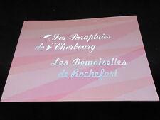 Parapluies Cherbourg / Demoiselles Rochefort Japan Film Program Deneuve Legrand