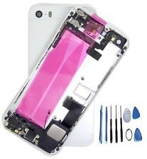 Silver Complete Housing Back Battery Door Cover Mid Frame Assembly for iPhone 5S