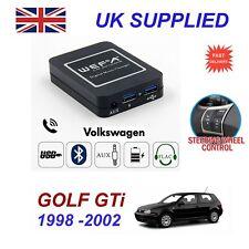 Para VW Golf GTI streaming de música cargador de teléfono Bluetooth módulo SD AUX CD 8p