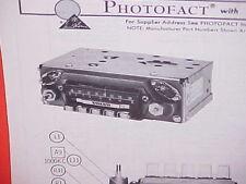 1969 VOLVO 122S 164 142S 144S 145S 1800S SPORT COUPE AM-FM RADIO SERVICE MANUAL
