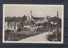 Panoramakarte mit Brücke St. Georgen an der Gusen gelaufen 1936