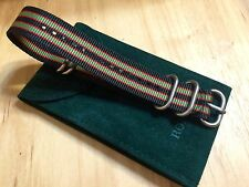 22mm Canvas Watch Band Nylon Strap 4 SS Rings Fits Timex J Crew ZULU Style- USA!