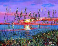 BEACH Sunset Original Art PAINTING DAN BYL Contemporary Modern Canvas huge 4x5ft