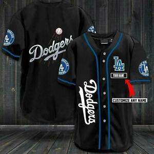 Personalized LA Dodgers Baseball Jersey Custom Name Size XS-4XL