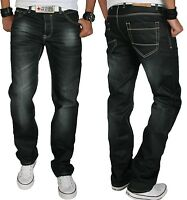 Rock Creek Herren Designer Jeans Hose Wachsbeschichtung Coated Stonewash RC-2064