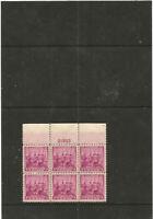 BEST AFFAIRE : très beau block bord de feuille USA 1938 .MNH .
