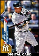 Topps BUNT Gary Sanchez GOLD PHYSICAL SERIES BASE 2020 [DIGITAL CARD]
