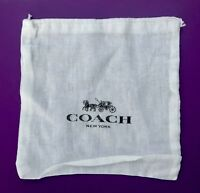 "Coach Drawstring Storage Dust Bag Cover New 7"" x 7.5"""