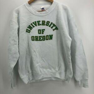 Miller Sweatshirt Men's L White University of Oregon Ducks Vintage USA