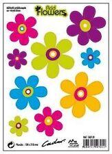 """Stickers Prédécoupés Fleur """"Acid Flowers"""" Lot De 9 Fleurs 237X340 mm"""