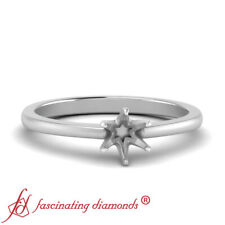 Tapered Style Affordable White Gold Engagement Ring Without Center Diamond