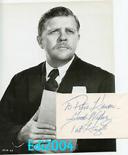 "PAT HINGLE Vintage Original ""HANG 'EM HIGH"" Photo Batman & Signed AUTOGRAPH CARD"