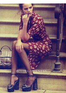 BOTTEGA VENETA Original Magazine Print Ad Advert Long legs high heels Footwear