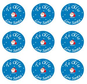 Love Santa Personalised stickers Christmas stickers sticker sheet custom