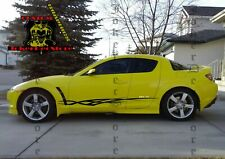 4X Sport Sticker Decal Side Door Stripes for Mazda RX-8 2 Color