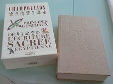 PRINCIPES GENERAUX DE L'ECRITURE SACREE EGYPTIENNE DE J.F.CHAMPOLLION