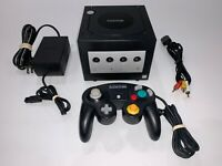 Nintendo Gamecube (BLACK DOL-001) System Console, OEM Controller, Tested, Clean!