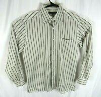 Ermenegildo Zegna Button Down Shirt Mens Large Long Sleeve Stripes Dress Casual